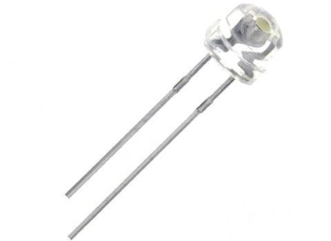 Светодиод круглый с прозрачной линзой, угол 110*, цвет белый
