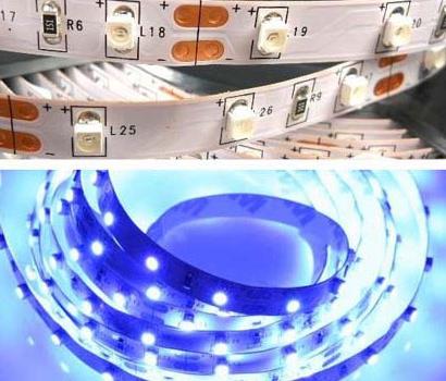 Лента светодиодная 3528 синяя  60 диодов/метр